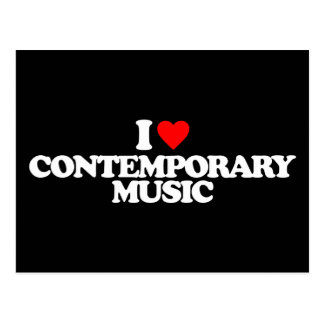 I LOVE CONTEMPORARY MUSIC POSTCARD