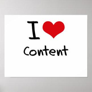 I love Content Print