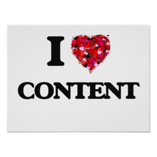 I love Content Poster