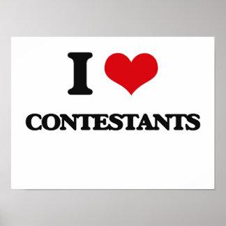 I love Contestants Poster