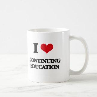 I love Continuing Education Basic White Mug