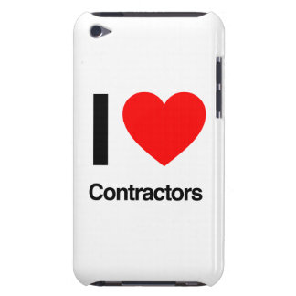 i love contractors Case-Mate iPod touch case