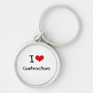I love Contractors Key Chains
