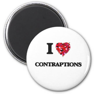 I love Contraptions 6 Cm Round Magnet