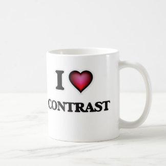 I love Contrast Coffee Mug