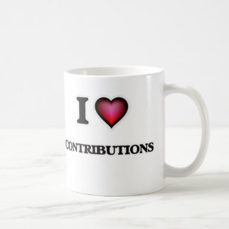 I love Contributions Coffee Mug