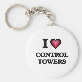 I love Control Towers Key Ring
