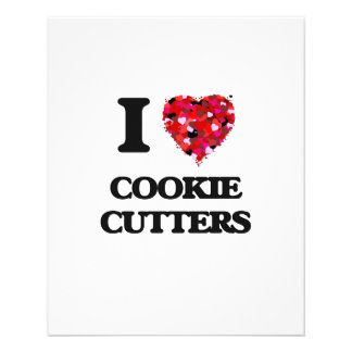 I love Cookie Cutters 11.5 Cm X 14 Cm Flyer