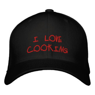 I Love Cooking Embroidered Hat