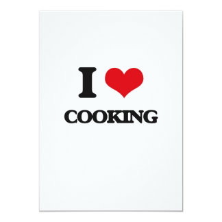 I love Cooking 13 Cm X 18 Cm Invitation Card