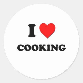 I love Cooking Round Sticker