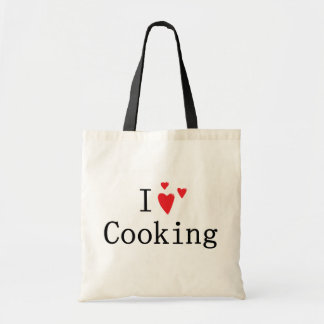 I Love Cooking Tote Bag
