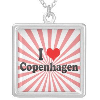 I Love Copenhagen, Denmark Silver Plated Necklace