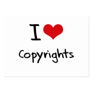 I love Copyrights Business Card Templates