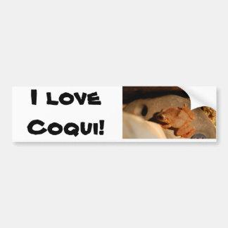 I love Coqui! Car Bumper Sticker