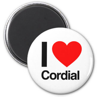i love cordial refrigerator magnet