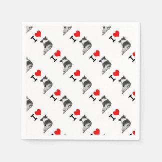 I love Corgi Butt Paper Napkins
