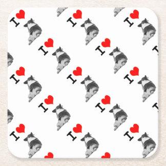 I love Corgi Butt Square Paper Coaster