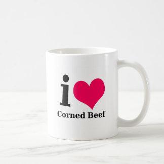 I love Corned Beef Basic White Mug
