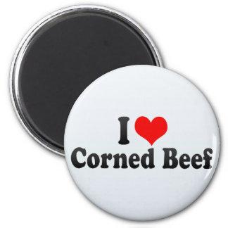 I Love Corned Beef 6 Cm Round Magnet