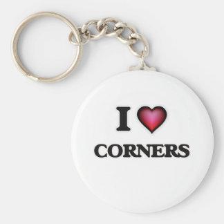 I love Corners Basic Round Button Key Ring