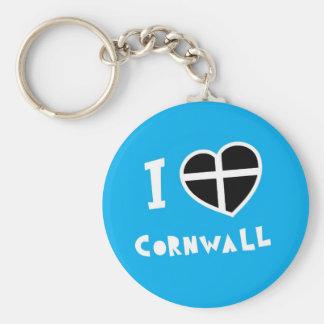 I love Cornwall Key Ring