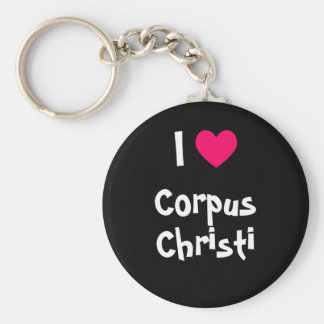 I Love Corpus Christi Basic Round Button Key Ring