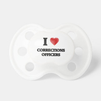 I love Corrections Officers (Heart made from words Pacifier