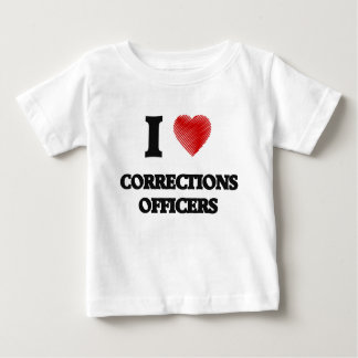 I love Corrections Officers (Heart made from words T-shirt