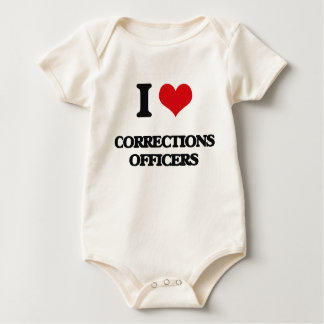 I love Corrections Officers Baby Bodysuit
