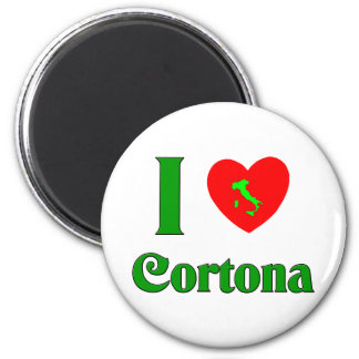 I Love Cortona Italy 6 Cm Round Magnet