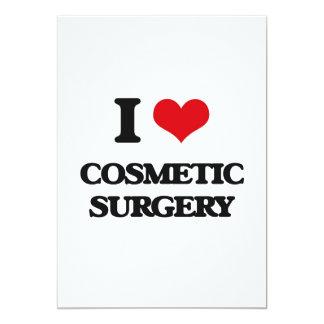 "I love Cosmetic Surgery 5"" X 7"" Invitation Card"