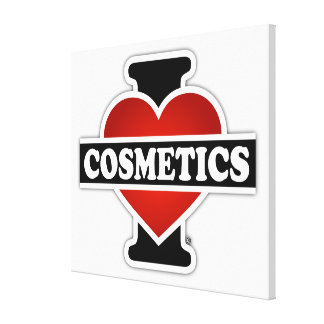 I Love Cosmetics Canvas Prints