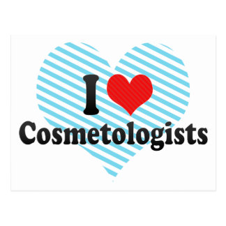 I Love Cosmetologists Post Card