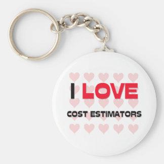 I LOVE COST ESTIMATORS BASIC ROUND BUTTON KEY RING