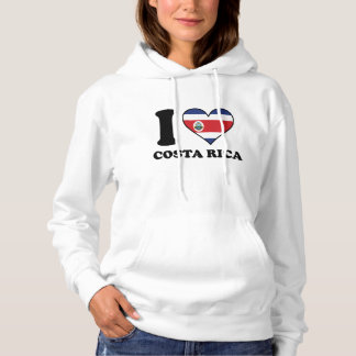 I Love Costa Rica Costa Rican Flag Heart Hoodie