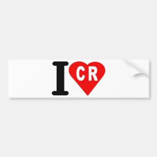 i_love_Costa-Rica.png Bumper Sticker