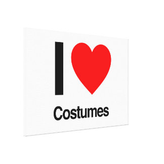 i love costumes gallery wrap canvas