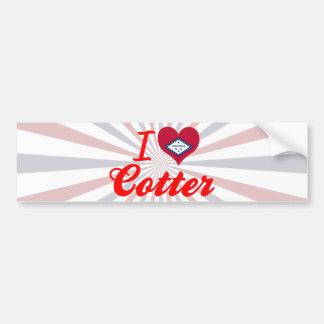 I Love Cotter, Arkansas Bumper Sticker