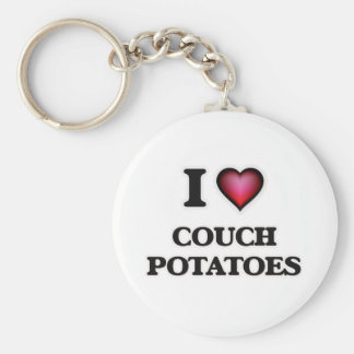 I love Couch Potatoes Key Ring