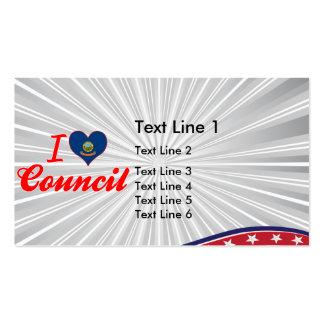 I Love Council, Idaho Business Cards