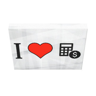 I Love Counting Money Gallery Wrap Canvas