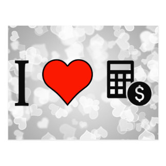 I Love Counting Money Postcard