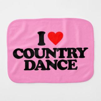 I LOVE COUNTRY DANCE BURP CLOTH