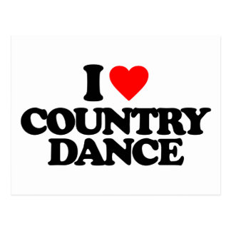 I LOVE COUNTRY DANCE POSTCARD