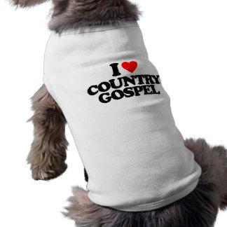 I LOVE COUNTRY GOSPEL SLEEVELESS DOG SHIRT