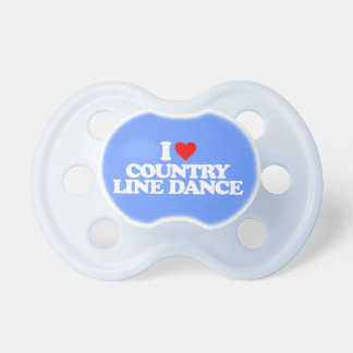I LOVE COUNTRY LINE DANCE BABY PACIFIER