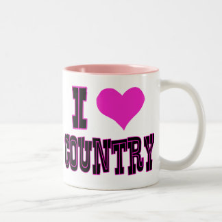 I Love Country Coffee Mugs