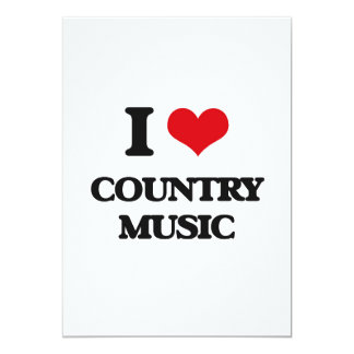 I love Country Music 13 Cm X 18 Cm Invitation Card