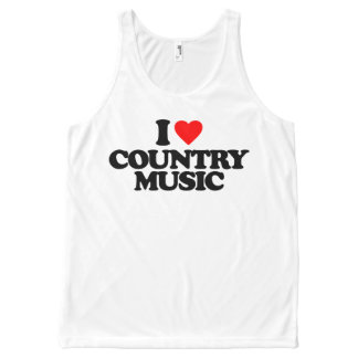 I LOVE COUNTRY MUSIC All-Over PRINT TANK TOP
